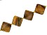 """Tiger's Eye Appx 30mm Kite Shape Bead Strand Appx 15-16"""" in length"""