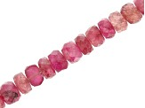 "Pink Tourmaline Appx 3-5mm Faceted Rondelle Bead Strand Appx 16"" in length Appx 65-75 CTW"