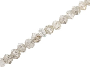 Platinum Color Diamond Appx 2mm Faceted Rondelle Bead Strand Appx 14
