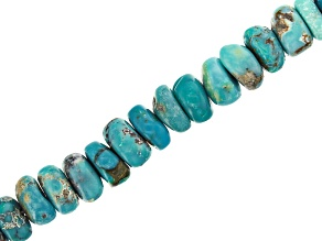 "Turquoise Appx 4-5mm Smooth Rondelle Bead Strand Appx 13"" Length"
