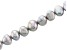 Silver Color Cultured Freshwater Appx 8-9mm Button Shape Pearl Strand