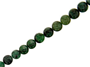 """Emerald Appx 4-6mm Graduated Round Bead Strand Appx 15-16"""" Length"""