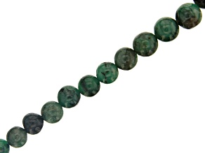 Emerald appx 5-7mm Graduated Round Bead Strand Appx 15-16""