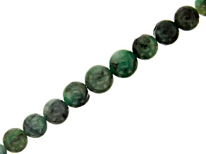 Emerald appx 5-8mm Graduated Round Bead Strand Appx 15-16