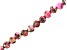 Pink Mardi Gras Stone Appx 6mm Round Bead Strand Appx 15-16