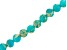 Teal Mardi Gras Stone Appx 6mm Round Bead Strand Appx 15-16