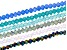 Chinese Crystal Appx 3mm Faceted Rondelle Bead Strand Set of 6 in Assorted Colors Appx 15-16