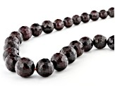 Garnet Faceted Appx 4mm - 12mm Graduated Bead Strand Set of 2 Appx 15-16