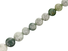 Jadeite Appx 6mm - 10mm Graduated Bead Strand Appx 15-16""