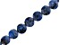 Dumortierite in Quartz Checkerboard Cut Faceted Appx 10mm Coin Bead Strand Appx 15-16