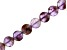 """Cacoxenite in Amethyst Checkerboard Cut Faceted Appx 10mm Coin Bead Strand Appx 15-16"""""""