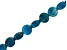 Blue Apatite Checkerboard Cut Faceted Appx 10mm Coin Bead Strand Appx 15-16
