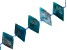 """Blue Apatite Faceted appx 15x27mm Diamond Shape Bead Strand appx 15-16"""""""