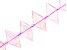 "Madagascan Rose Quartz Faceted appx 15x27mm Diamond Shape Bead Strand appx 15-16"""