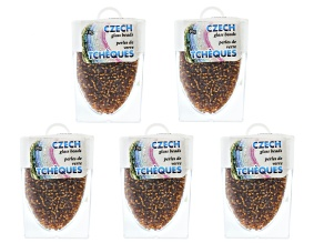 Copper Color Czech Glass Size 11/0 Seed Beads Set of 5 Appx 10 Grams Each, Total 50 Grams