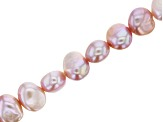 Pink Cultured Freshwater Pearl appx 7-8mm Fancy Nugget Shape Bead Strand appx 14-15