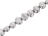Gray Cultured Freshwater Pearl appx 7-8mm Fancy Nugget Shape Bead Strand appx 14-15