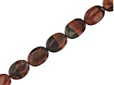 "Red Tiger's Eye Appx 15x12mm Oval Bead Strand Set of 6 Appx 5"" in length"