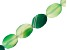 Green Agate Flat Oval appx 25x18mm Twist Shape Large Hole Bead Strand appx 14-15