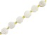 White Moonstone appx 10mm Faceted Oval Bead Strand appx 15-16""