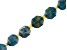 "Blue Apatite Appx 10mm Faceted Oval Bead Strand Appx 15-16"" in length"
