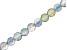 Iridescent Blue Quartz Appx 6mm Faceted Round Bead Strand Appx 8