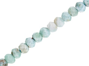 Larimar Appx 5x4mm Faceted Rondelle Bead Strand Appx 15-16""
