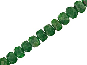 "Tsavorite Appx 3-4.5mm Faceted Rondelle Bead Strand Appx 17"" in Length"