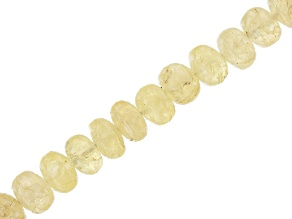 "Danburite Appx 3-5mm Rondelle Bead Strand Appx 17"" in Length"