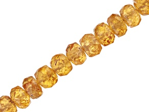 "Spessartite Appx 3-4.5mm Faceted Rondelle Bead Strand Appx 17"" in Length"