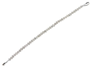 "Platinum Color Diamond Appx 2mm Faceted Rondelle Bead Strand Appx 3"" in Length"