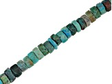 Peacock Rock Graduated Wheel appx 5-7mm Shape Bead Strand appx 15-16