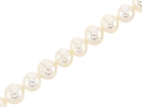 White Cultured Freshwater Pearl Potato appx 5-5.5mm Shape Bead Strand appx 14-15