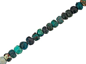 Peacock Rock Graduated Faceted appx 3-5mm Rondelle Bead Strand appx 15-16
