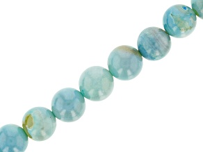 Terra Agate appx 10mm Round Bead Strand appx 15-16