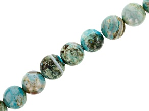 Terra Agate appx 12mm Round Bead Strand appx 15-16