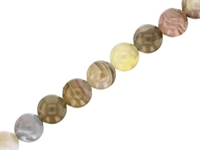 Botswana Agate appx 6mm Round Bead Strand appx 15-16""
