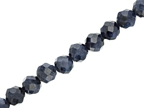 Sapphire Faceted appx 3mm Round Bead Strand appx 15-16
