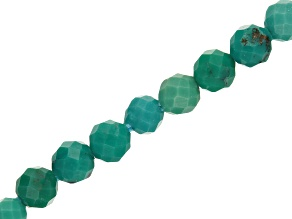 Turquoise Faceted appx 2mm Round Bead Strand appx 15-16