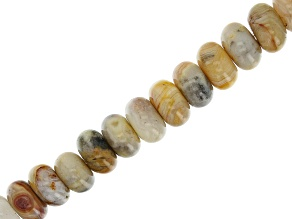 Crazy Agate Rondelle appx 8x5mm Bead Strand appx 14-15