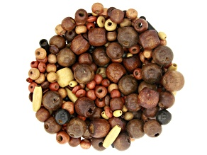 Wooden Beads in Assorted Sizes, Shapes and Colors appx 800 pieces total