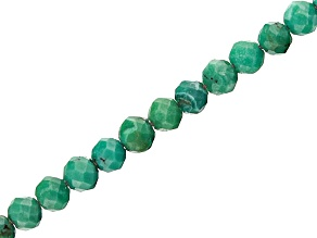 Turquoise Faceted appx 1.5mm Round Bead Strand appx 15-16""