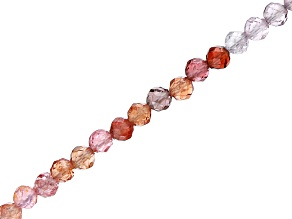 Multi-Color Spinel Faceted appx 2mm Round Bead Strand appx 15-16""