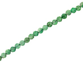 Emerald Faceted appx 2mm Round Bead Strand appx 15-16""