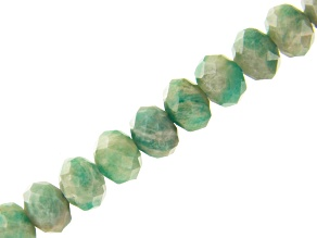 Amazonite Faceted appx 5mm Rondelle Bead Strand appx 15-16