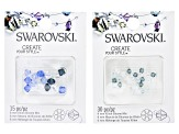 Swarovski® Create Your Style Crystal Bicones appx 4-6mm in Blue & Green Shades 60 Pieces Total