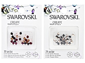 Swarovski® Create Your Style Crystal Bicones appx 4-6mm in Assorted Colors 54 Pieces Total.