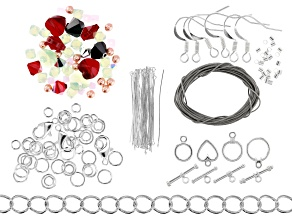 Swarovski® Create Your Style Peppermint Party Holiday Mix Kit 50 Beads & 125 Findings Total
