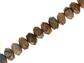 """Venus Rhyolite Faceted appx 8mm Rondelle Bead Strand appx 8"""""""