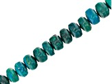 Chrysocolla Graduated Rondelle appx 5-7mm Bead Strand appx 15-16""